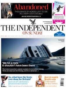 Independent on Sunday Jan 15, 2012