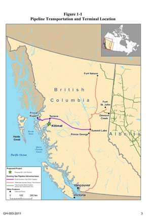 BC LNG pipeline map