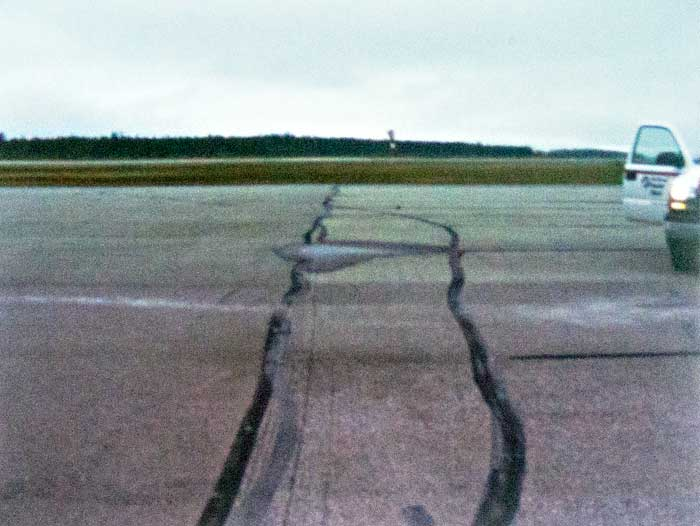 Divots from old ducts at Kitimat Terrace airport