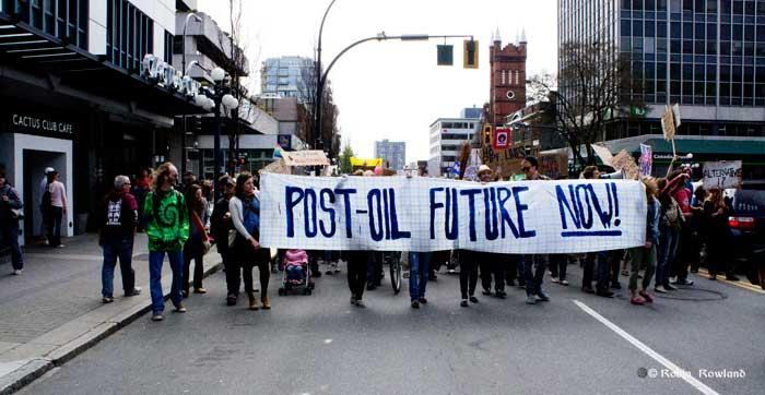 Anti-Enbridge protest in Victoria, April 12, 2012