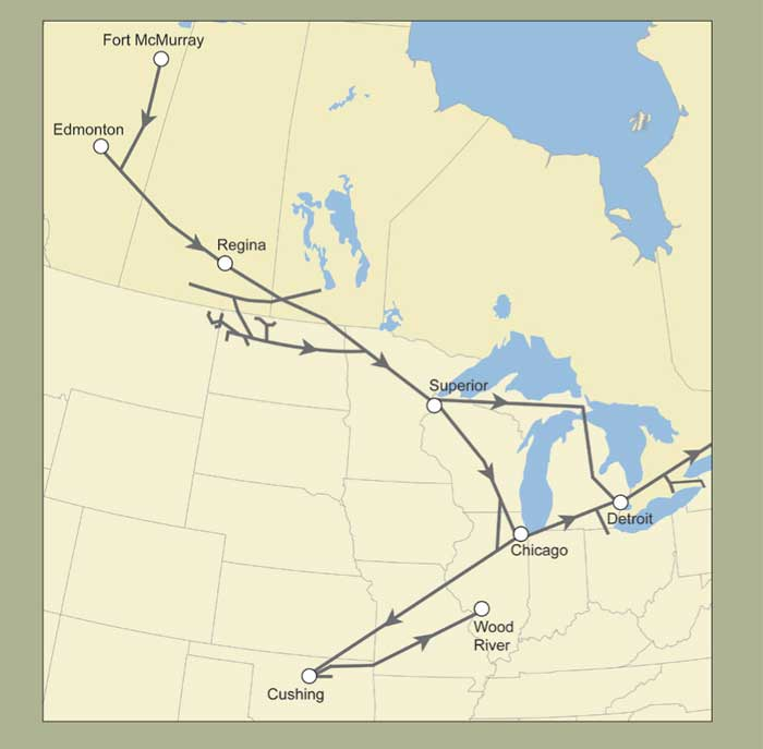 A Map Released By Enbridge Showing Its Central Canada And Us Pipelines