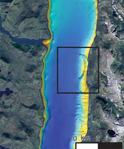 Hawkesbury Island slide map