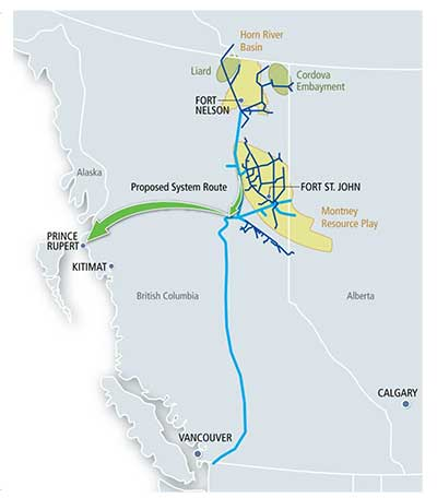 Spectra Energy BC project map