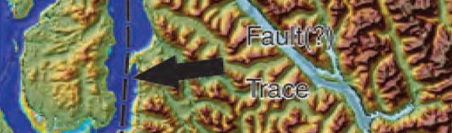 Fault zone map Douglas Chanel