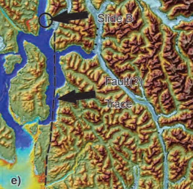 Fault zone map Douglas Chanel