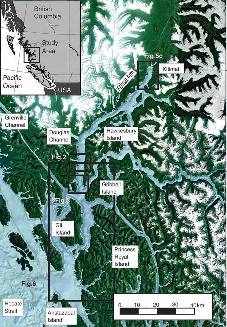 Map of Douglas Channel