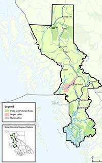 Map Regional District Kitimat Stikine