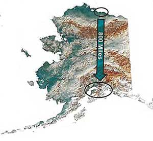 Map of Alaska LNG project