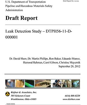 Leak detection report cover