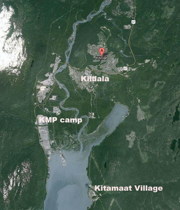 Map of Kitimat
