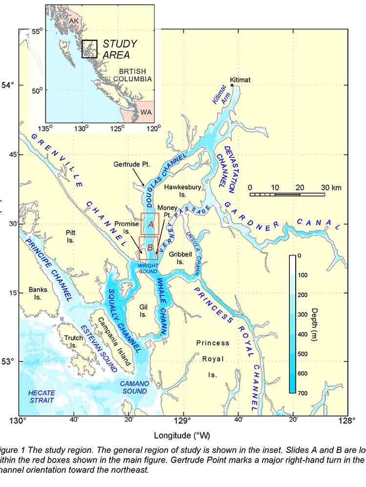 Slide tsunami area map