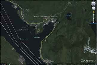 Google Earth image of Ward Cove, Alaska