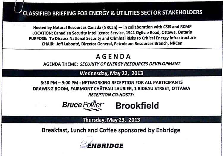 Classified briefing on energy infrastructure
