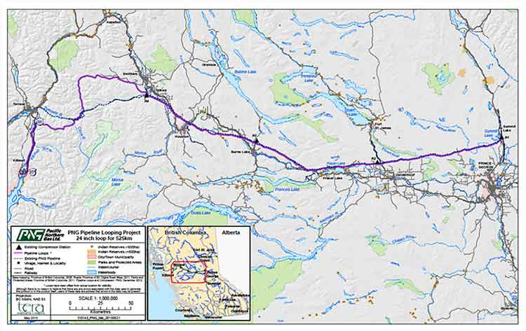 PNG Pipeline Looping Project map (PNG)