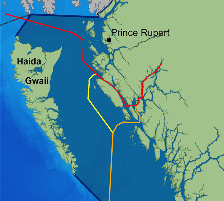 Tanker routes (Wikipedia from Living Oceans)