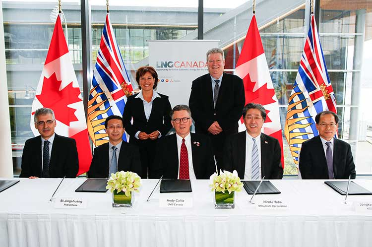 LNG Canada signing