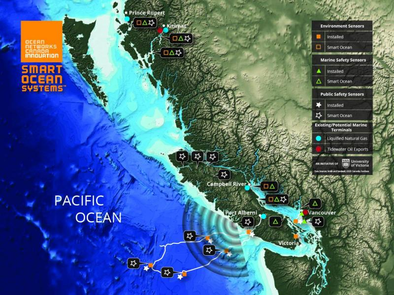 Smart Ocean Systems map