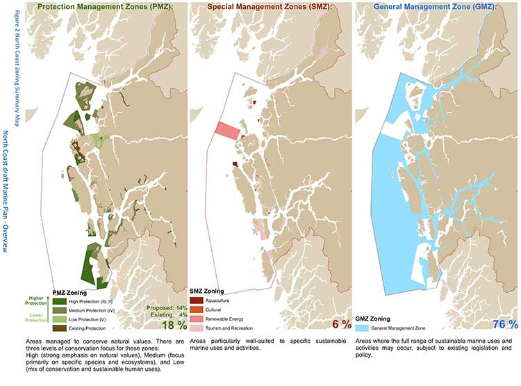 Marine planning map