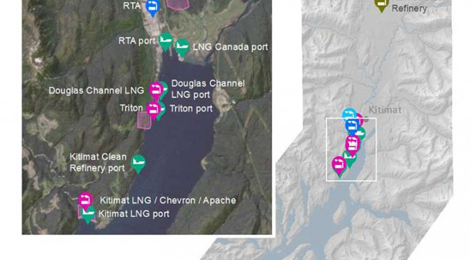 Kitimat can accommodate industrial growth, air shed study says. But where's Northern Gateway?