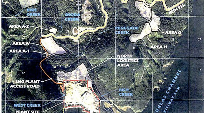 Chevron applies to update permit to discharge storm water to Bish Cove and Douglas Channel