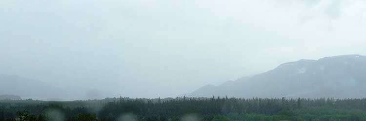 Dreary weather in Kitimat
