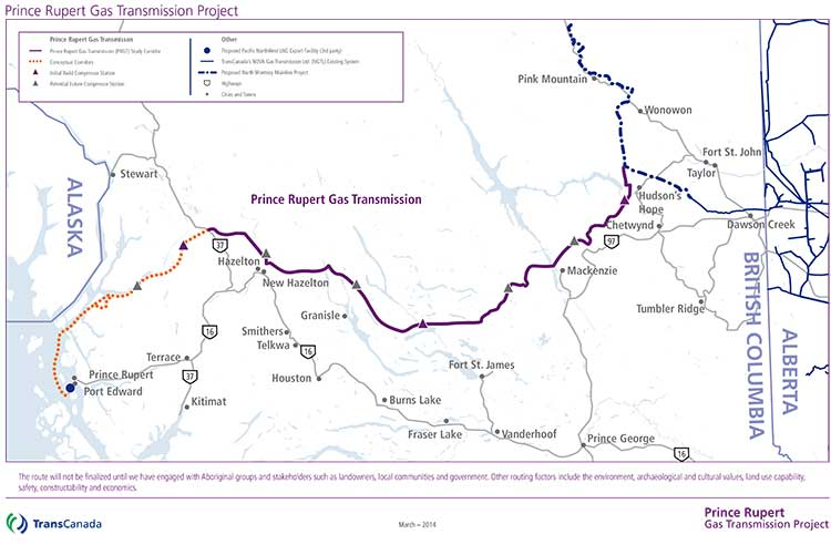 Proposed natural gas pipeline. (TransCanada)