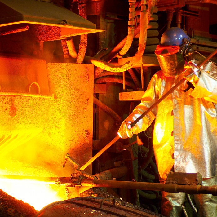 A Glencore stock photo of  lag tapping at the Sudbury Smelter. (Glencore)