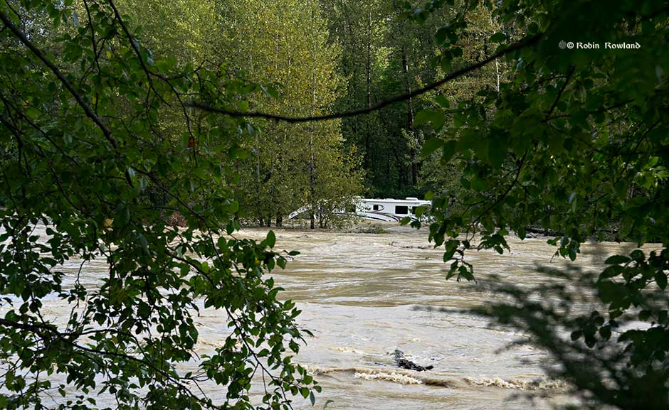 Campers rescued from Kitimat River bank after  heavy rain storm