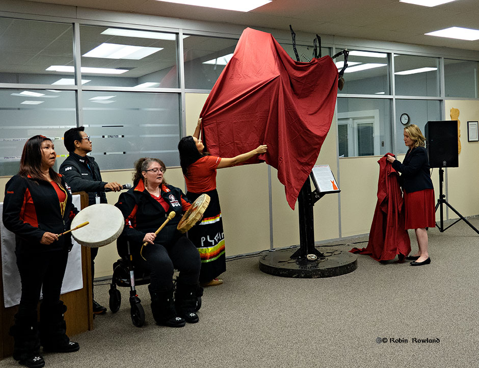Kitimat unveils metal memorial tree for missing and murdered indigenous women